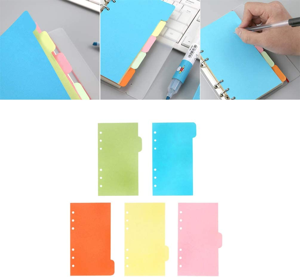 STOBOK A5 Intercalaires Page Color/é Index Page Onglet Document Classification Organisateur Diviseurs /Étiquettes pour /École Bureau