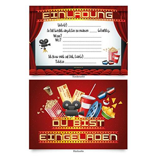 Einladungskarten (8 Stück) zum Selbstausfüllen für Kindergeburtstag ...