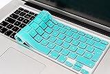 """boldR Cubre Teclado para MacBook Pro 13' 15' 17'/MacBook Air 13"""" Protector de Teclado en español de Silicón Disponible en 13 Colores! (Azul Turquesa)"""