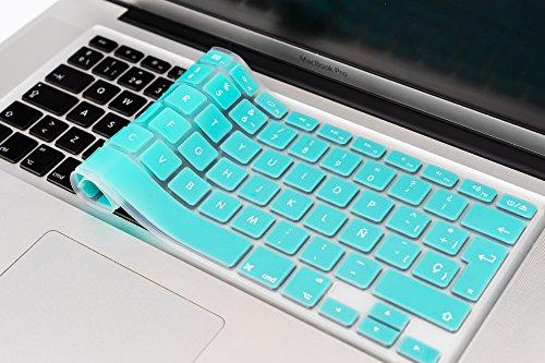 """boldR Cubre Teclado para MacBook Pro 13"""" 15"""" 17""""/MacBook Air 13"""" Protector de Teclado en español de Silicón Disponible en 13 Colores! (Azul Turquesa)"""