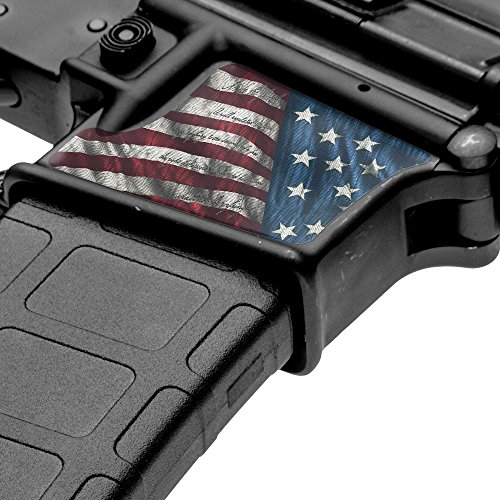 GunSkins Magwell Skin Specialty Vinyl Decal for AR-15/M4 Lower Receivers (Proveil Victory)