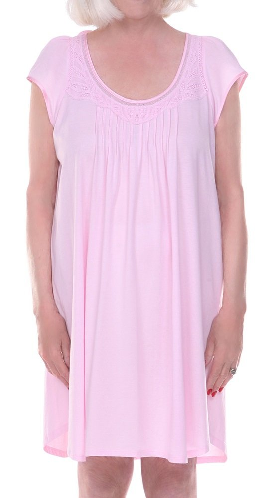 Home Care Line Dignity pajamas Womens Cotton Cap sleeve open back hospice nightgown Sz S-M