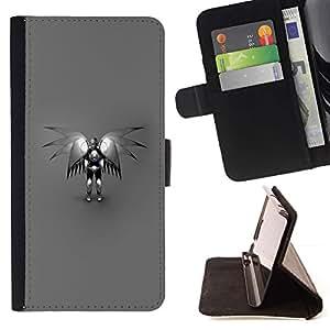 For Samsung Galaxy S5 V SM-G900 Case , Ángel Robot- la tarjeta de Crédito Slots PU Funda de cuero Monedero caso cubierta de piel