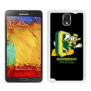 NCAA Pacific-12 Conference Pac-12 Football Oregon Ducks 14 White Individual Custom Samsung Galaxy Note 3 Case
