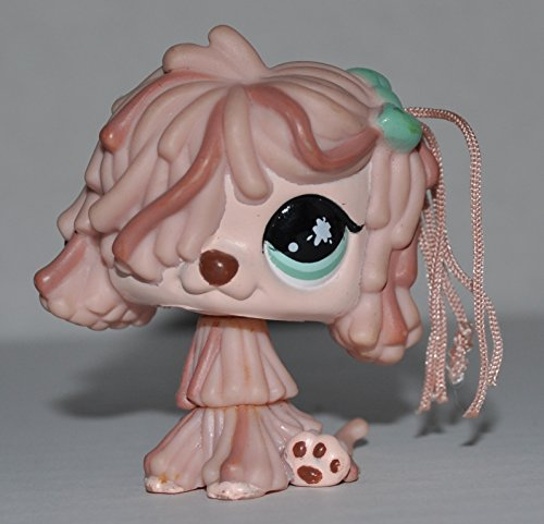 Sheep Dog (Real Hair, Cream, Green Eyes) - Littlest Pet Shop (Retired) Collector Toy - LPS Collectible Replacement Figure - Loose (OOP Out of Package & Print)