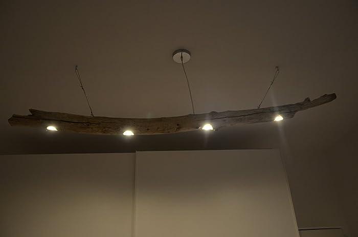 Plafoniere Da Soffitto Di Design : Lampadario da soffitto a sospensione rustico con tronco di albero