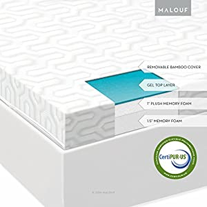 Amazon ISOLUS 2 5 Inch Liquid Gel Memory Foam
