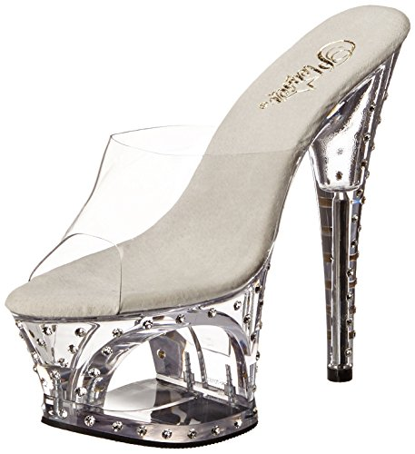Pleaser Moon-701sdt - Tacones Mujer - Clear/Clear
