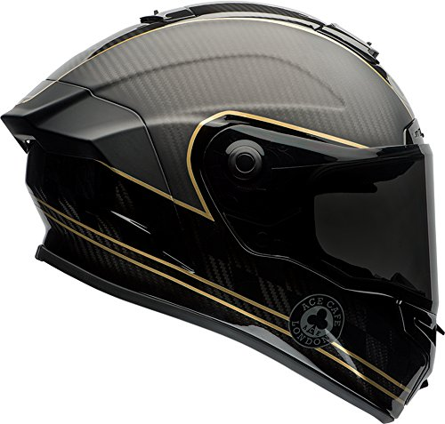 Race Star (Bell Race Star Ace Café Speed Check Full-Face Motorcycle Helmet (Gloss/Matte Black/Gold, Large))
