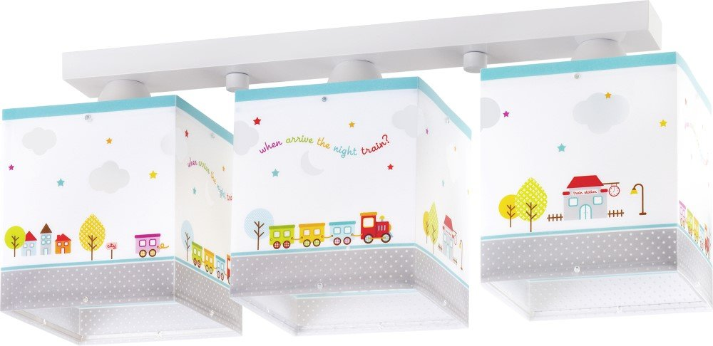 Kinderzimmer-Lampe Eisenbahn Decken-Lampe 65533 mit LED RGB-CCT 1100 Lumen Lokomotive Zug bunt Mädchen & Jungen
