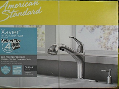 American Standard Xavier Selectflo Chrome 1-Handle Kitchen Faucet American Standard Chrome Soap Dispenser