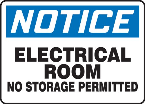 Accuform Signs MELC801VS ELECTRICAL PERMITTED