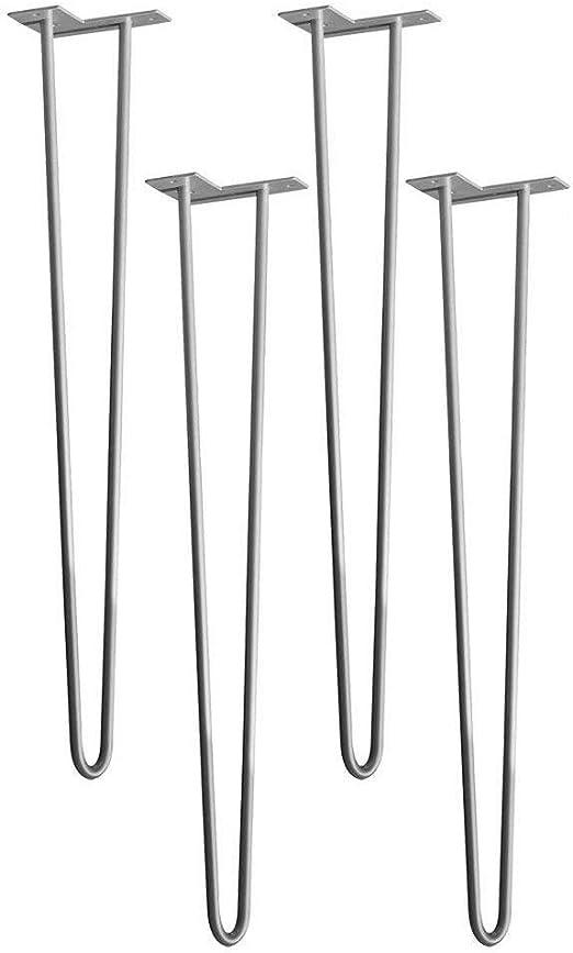 HENGMEI 4X71cm 2 varillas Pies para mesa y mueble patas de acero ...