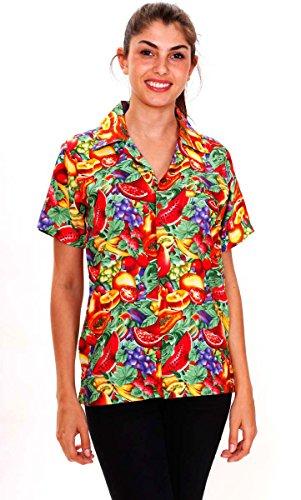 Original King Kameha | Funky Camisa Hawaiana | Mujeres | XS- 6XL | Manga Corta | Bolsillo Delantero | impresión De Hawaii |TuttiFrutti |diferentes colores Multicolor