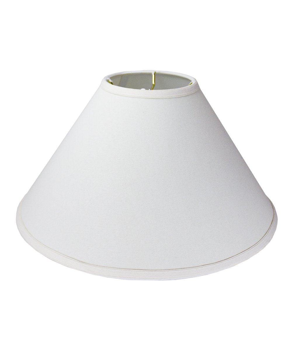 6x18x11 Coolie Hardback Lampshade White Linen/White Liner with Spider Fitter By Home Concept - Perfect for table lamps and some floor lamp -Medium, White