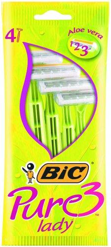 BIC Pure 3 Lady, Pack 4, Triple Blade Razor 845887