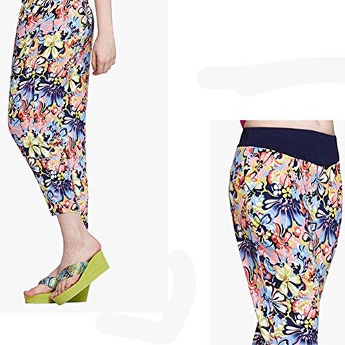 DMMMSS De Las Mujeres Sección Pijamas De Verano Pantalones Cortos Sueltos Pantalones Pantalones Pantalones En La Sección De Largo 7