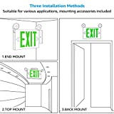 TORCHSTAR Green LED Exit Sign with Emergency