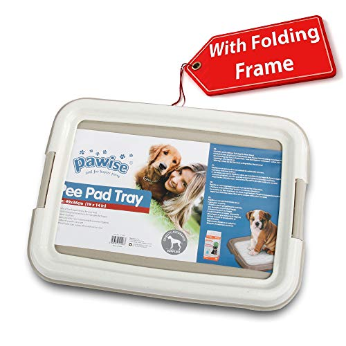 PAWISE Pee Pad Holder - Puppy Training Pads - Best Portable Potty Trainer - Indoor Dog Potty - Puppy Essentials - Dog Training Holder - Puppy Pad Holder (24