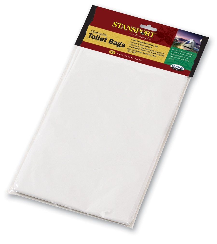 Amazon.com : Stansport Disposable Toilet Bags, Pack Of 3 : Camping  Sanitation Supplies : Sports U0026 Outdoors