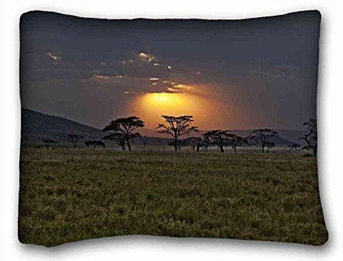 - Generic Personalized ( Landscapes Africa Kenya savannah sunset ) Pillowcase Standard Size 20