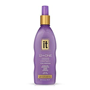 IT 12-in-ONE Amazing Leave In Treatment Spray   Volumizing, Infused with Keratin Proteins, Repairs, Protects, Strengthens Hair   Parabens Free, 10.2oz
