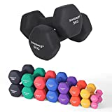 SONGMICS Set of 2 Dumbbells Weights Vinyl Coating Gym and Home Workouts Waterproof and Non-Slip with...