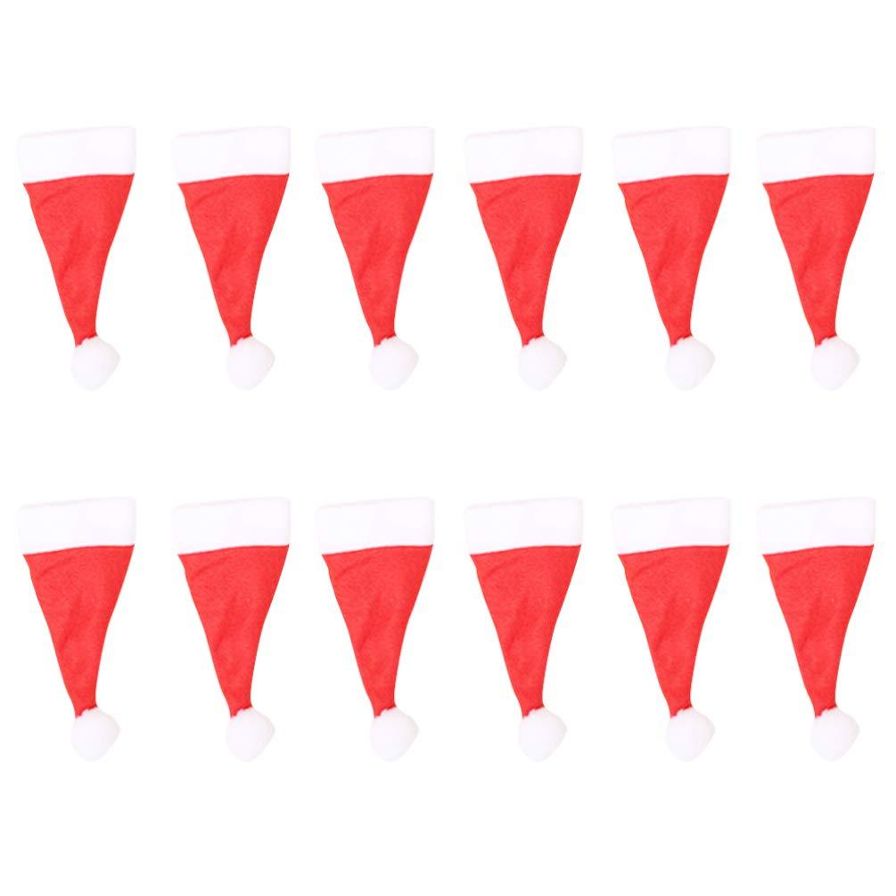 Cubiertos 20 minisombreros de Navidad portacubiertos de Navidad Cubierta de Caramelos decoraci/ón de la Mesa de Navidad Sombrero Botella NUOBESTY Bolsillos