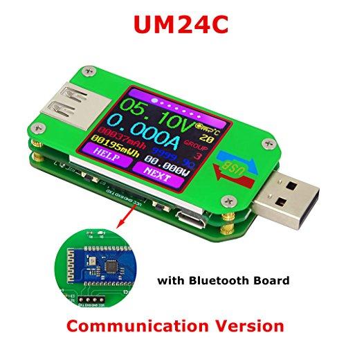 Lukalook RD UM24C UM24 USB 2.0 Color LCD Display Tester Voltage Current Power Temp Meter (UM24C) by Lukalook