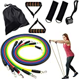 Resistance Bands Set, Exercise Bands with Handles, Door Anchor, Ankle Straps and Workout Guide - for Resistance Training, Home Workouts, Physical Therapy, Yoga Exercise ,Workout Tubes for Indoor and Outdoor Sports, Fitness, Home Gym,Best for Men,Women and the Elders