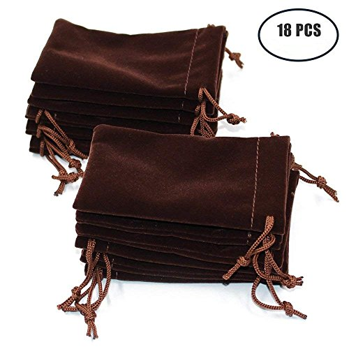 Md trade 18pcs Velvet Cloth Jewelry Pouches