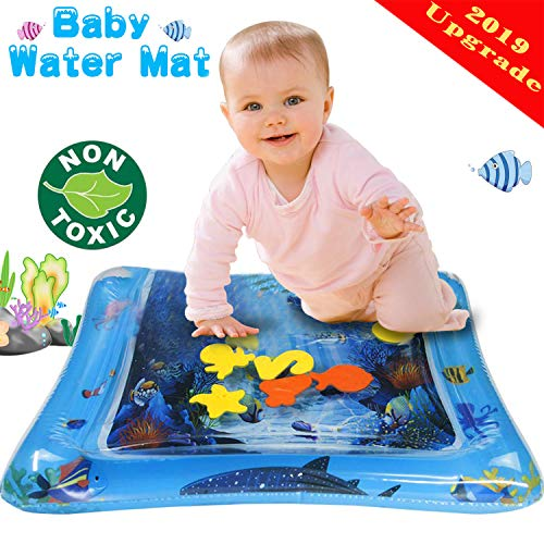 Yardom Inflatable Baby Water Mat ,Fun Activity Play Center for Infants for Toddlers Infants Newborns PVC Free Leakproof Visual Stimulation- Motor ()