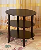 Indoor Multi-Function Accent Table Study Computer Home Office Desk Bedroom Living Room Modern Style End Table Sofa Side Table Coffee Table Three-layer oval coffee table