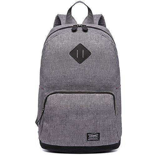 KAUKKO Laptop Rucksack Einfacher und Unisex Daypack Handtasche für Schul Reisen