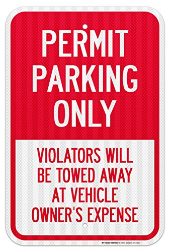 Parking Violators Vehicle Laminated Sign