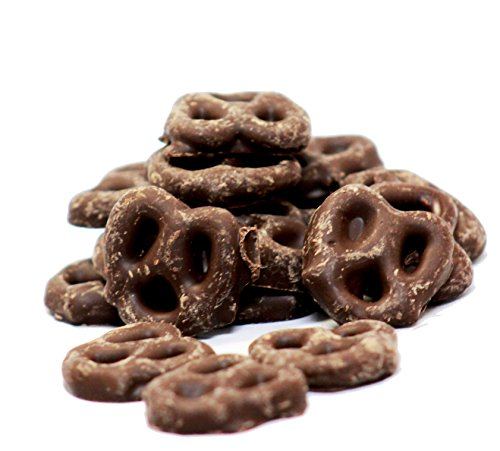 Gourmet Chocolate Covered Mini Pretzels by Its Delish (Milk Chocolate, 1 lb)]()