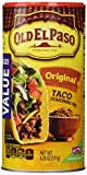 Old El Paso Seasoning, Taco, 6.25-ounce Canisters (Pack 2)