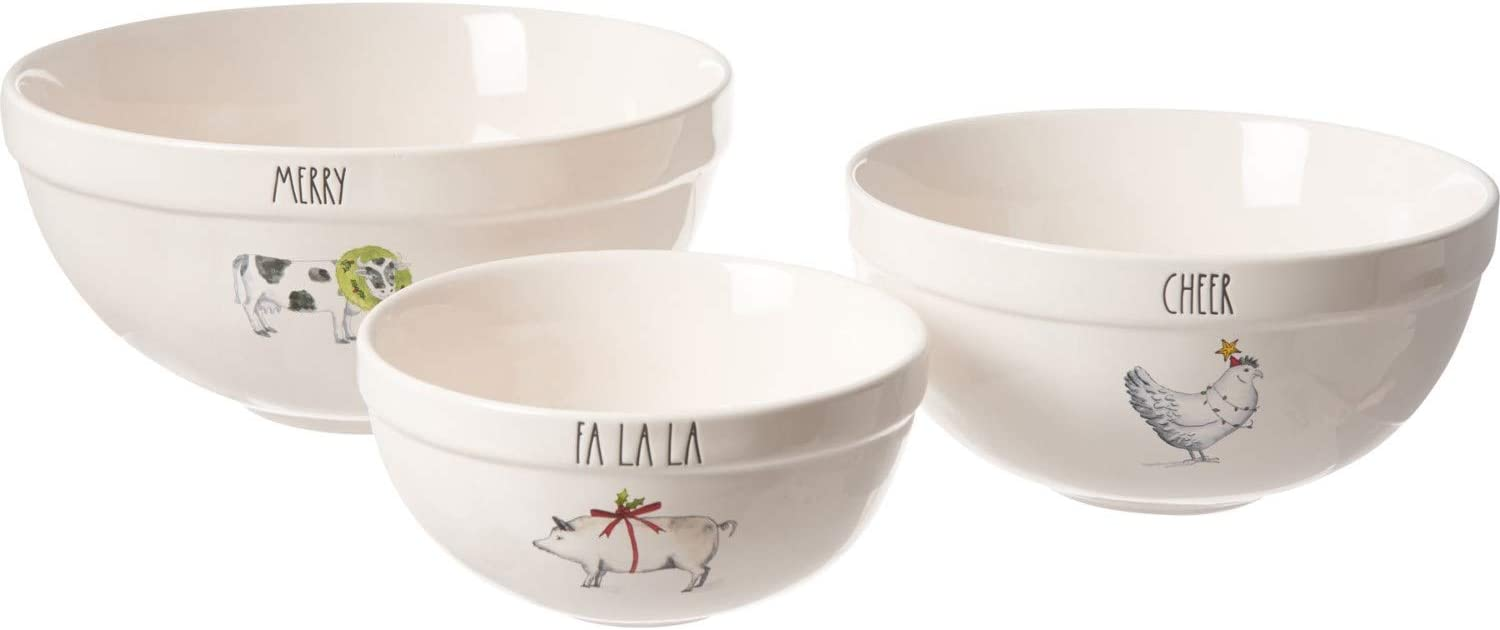 Rae Dunn Christmas 2020 Bowl Amazon.com: Rae Dunn Fall Animals Christmas Mixing Bowls   Set of