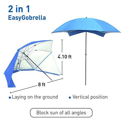 EasyGo Brella Beach Umbrella Blue