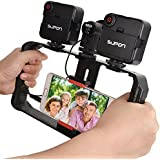 SUPON U Rig Pro Smartphone Video Rig, Phone Movies Mount Handle Grip Stabilizer, Filmmaking Recording Rig Case for Video Maker Filmmaker Videographer - Fits iPhone, Samsung, HuaWei,and all Phones