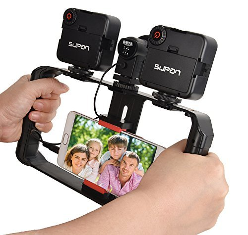 SUPON U Rig Pro Smartphone Video Rig, Phone Movies Mount Handle Grip Stabilizer, Filmmaking Recording Rig Case for Video Maker Filmmaker Videographer - Fits iPhone, Samsung, HuaWei,and all Phones by SUPON