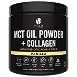 MCT Oil Powder + Collagen + Prebiotic Acacia Fiber – 100% Pure MCT's – Perfect for Keto – Energy Boost – Appetite Control – Healthy Gut Support – Vanilla For Sale