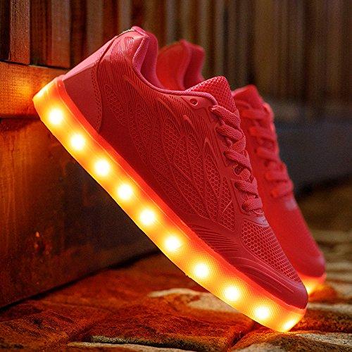 dpbass  Led Shoes,  Damen Lauflernschuhe Sneakers Rot