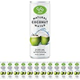 Coco Joy Coconut Water 8 oz - Refreshing Low Calorie, High Calcium Drink Packed with Electrolytes, Potassium, and Other Necessary Nutrients, Paleo Diet (12 Pack) (8.4 Fl Oz)