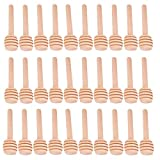 Baitaihem 30 Pack Wood Honey Dipper Sticks 3 Inch for Honey Jar Dispense Drizzle Honey