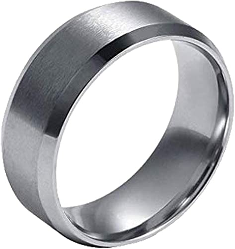 Stainless Steel 6mm Mens Wedding Ring Band Size 12