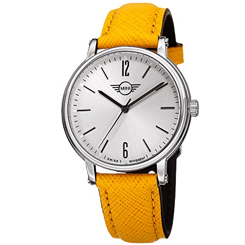 Mini Men's MINI160605 Swiss Quartz Yellow Genuine Leather Strap Watch