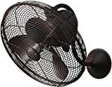 Matthews LL-TB Laura 16'' Wall Fan with Remote Control, Textured Bronze