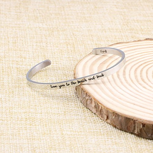 Joycuff Beach Jewelry Stainless Steel Cuff Bangle Bracelet Ocean Inspired Love You To The Beach And Back by Joycuff (Image #2)