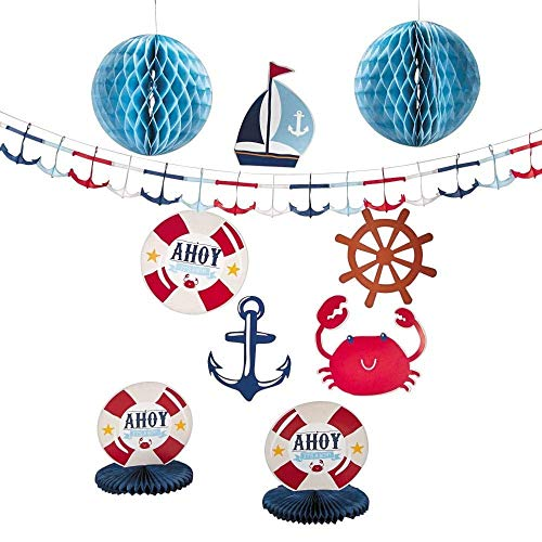 Paper Nautical Baby Shower Decorating Kit ()